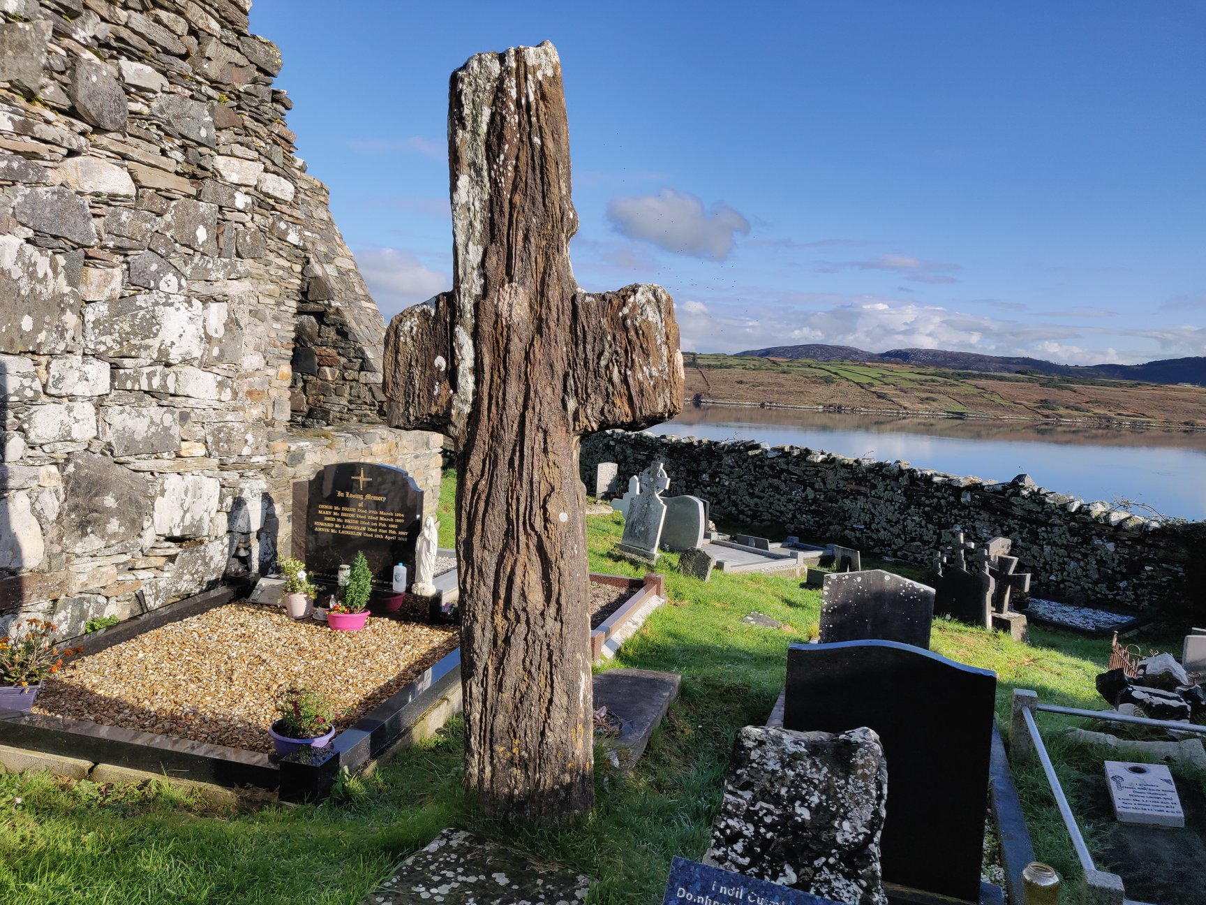St Colm Cille Cross at Mevagh Graveyard